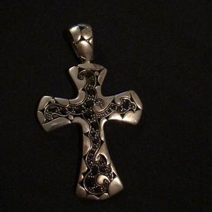 John Hardy sterling silver .925 cross necklace
